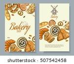 vector bakery vertical banners. ... | Shutterstock .eps vector #507542458