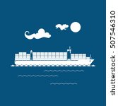 cargo container ship isolated... | Shutterstock .eps vector #507546310