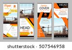 orange roll up business... | Shutterstock .eps vector #507546958