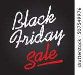 black friday sale. discount... | Shutterstock .eps vector #507549976