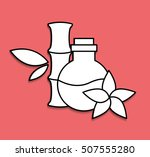 natural spa center icons vector ... | Shutterstock .eps vector #507555280