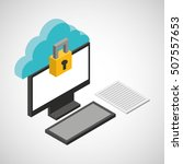 cloud computing data storage... | Shutterstock .eps vector #507557653