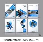 cover design annual report ... | Shutterstock .eps vector #507558874