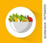 vegetarian menu healthy food... | Shutterstock .eps vector #507560203
