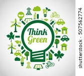think green ecology icons... | Shutterstock .eps vector #507562774