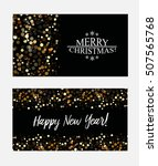 christmas and new year banners... | Shutterstock .eps vector #507565768