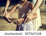ballet dancer training school... | Shutterstock . vector #507567148