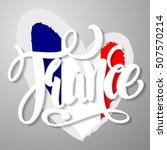 handwritten france.... | Shutterstock .eps vector #507570214