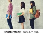 education students people... | Shutterstock . vector #507574756