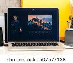 paris  france   oct 28 2016 ... | Shutterstock . vector #507577138