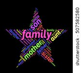 family word cloud in shape of... | Shutterstock .eps vector #507582580