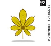 leaf icon in trendy flat style...