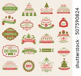 illustration merry christmas... | Shutterstock .eps vector #507590824