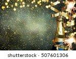 bottle of champagne.celebration ... | Shutterstock . vector #507601306