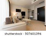 modern hotel room interior   | Shutterstock . vector #507601396