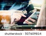 businessman or businesswoman...   Shutterstock . vector #507609814