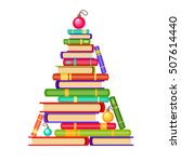 vector new year tree from... | Shutterstock .eps vector #507614440