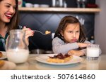 little girl does not want to... | Shutterstock . vector #507614860