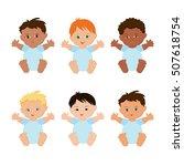multiethnic or multinational... | Shutterstock .eps vector #507618754