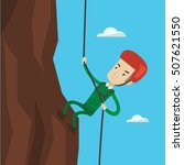 rock climber in protective... | Shutterstock .eps vector #507621550