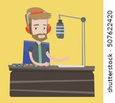 young hipster dj working on... | Shutterstock .eps vector #507622420