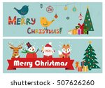 christmas banners classical... | Shutterstock .eps vector #507626260
