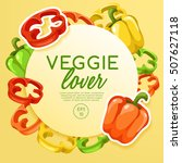 veggie lover elements   vector... | Shutterstock .eps vector #507627118