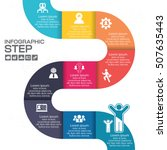 infographic step for success... | Shutterstock .eps vector #507635443