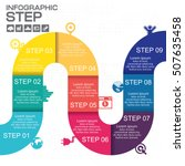 infographic step for success... | Shutterstock .eps vector #507635458