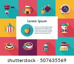 coffee and tea icon set | Shutterstock .eps vector #507635569