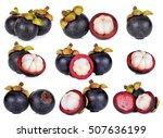 set of mangosteen isolated on...   Shutterstock . vector #507636199