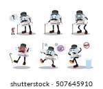 computer man cartoon set | Shutterstock . vector #507645910