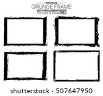 grunge frame set   abstract... | Shutterstock .eps vector #507647950