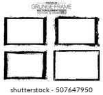 grunge frame set   abstract...   Shutterstock .eps vector #507647950