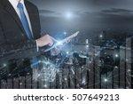 double exposure of professional ...   Shutterstock . vector #507649213