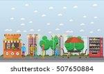 street food festival concept... | Shutterstock .eps vector #507650884