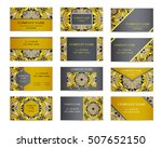 set of business cards. template ... | Shutterstock .eps vector #507652150