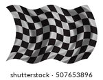 checkered racing flag. symbolic ... | Shutterstock . vector #507653896