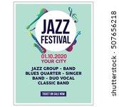 jazz festival poster templates | Shutterstock .eps vector #507656218