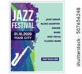 jazz festival poster templates | Shutterstock .eps vector #507656248