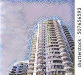 digital painting   urban... | Shutterstock . vector #507656593