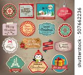 merry christmas decoration and... | Shutterstock .eps vector #507662236