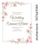 marriage wedding invitation... | Shutterstock .eps vector #507665584