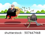 a vector illustration of rich... | Shutterstock .eps vector #507667468