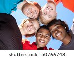a group of smiling faces of... | Shutterstock . vector #50766748
