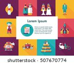 wedding and marriage icons set | Shutterstock .eps vector #507670774