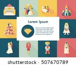 wedding and marriage icons set | Shutterstock .eps vector #507670789