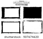 grunge frame set   abstract... | Shutterstock .eps vector #507674620