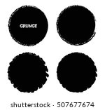 vector grunge circles. grunge...   Shutterstock .eps vector #507677674
