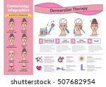 vector illustrated set with... | Shutterstock .eps vector #507682954
